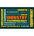 Industry word cloud concept vector image