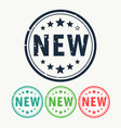 new stamp label badge in gunge style vector image