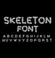 skeleton font letters anatomy bones abc skull and vector image