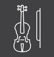 violin line icon music and instrument vector image