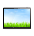 Summer in Tablet PC vector image vector image