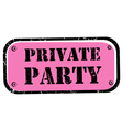 private party stamp vector image