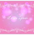 Bokeh background with decorative border vector image
