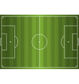 Grass Textured Soccer Field vector image