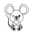 mouse cute animal cartoon icon image vector image