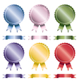 shiny badges vector image vector image