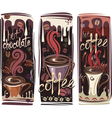 banners with coffee vector image vector image