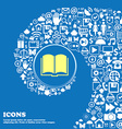 Book icon Nice set of beautiful icons twisted vector image