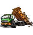 Cartoon tipper truck Isolated vector image