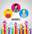 diversity hands design vector image