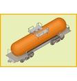 istern railway tank fuel transportation vector image