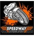 Motorcycle - extreme sport Emblem vector image