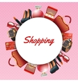 Shopping Accessories Frame vector image