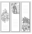 Template design bookmarks isolated Coloring page vector image
