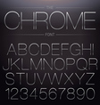 Thin Chrome Font vector image