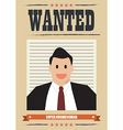 Wanted businessman vector image