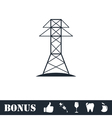 Power line icon flat vector image