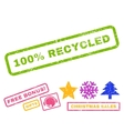 100 Percent Recycled Rubber Stamp vector image