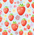 Texture of a delicious strawberry vector image