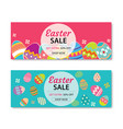easter sale banner template background vector image vector image