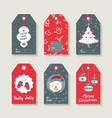 christmas set of labels and tags for holiday gifts vector image vector image