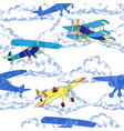 seaml colors airplanes-03 vector image