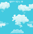 cloud in the sky seamless pattern air nature vector image