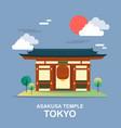 asakusa temple ancient place in tokyo desig vector image vector image