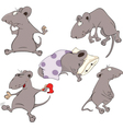 Mice Collection Set vector image vector image