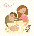 Parents with baby vector image vector image
