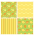 Set of seamless Easter paper vector image