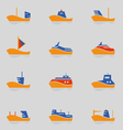 Ships icons set vector image