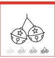 Christmas bells icon vector image
