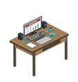 modern creative office workplace vector image