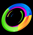 Abstract Colorful Circle Shape on Black Background vector image