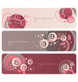 floral banners collection vector image