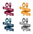 food and drink vintage banner set vector image