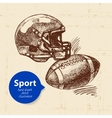 Hand drawn sport object Sketch american football vector image