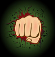 Hand punch design vector image