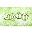 New year 2015 in green background Clip-art vector image
