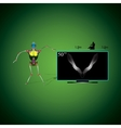 Robot and TV vector image