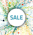 Watercolor Splash Sale vector image