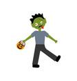 zombie halloween costume vector image