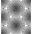 Black and white ornamental pattern seamless art vector image vector image