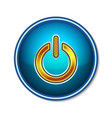 power button symbol icon technology vector image