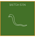 of animal symbol on snake vector image