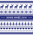 Bonne Annee 2014 - french happy new year pattern vector image vector image
