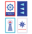 Sailor Stamps for summer collection vector image