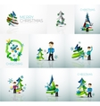 Businessman and New Year vector image