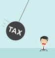 Businessman with Huge Tax Bomb vector image